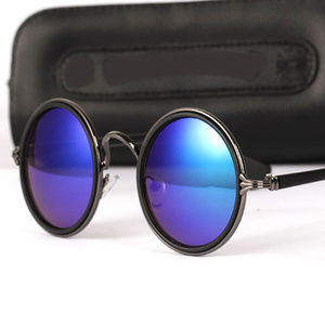 Other - Round Blue Mirror Lens Sunglasses Unisex Glasses
